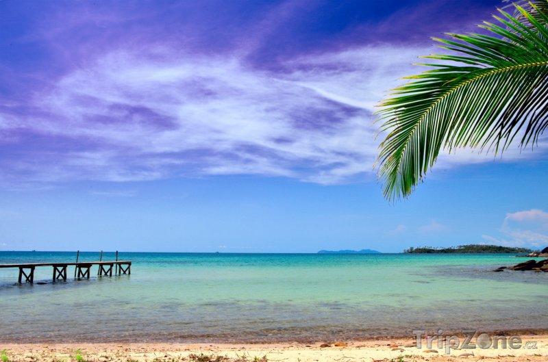 Fotka, Foto Azurové moře a obloha (Honduras)