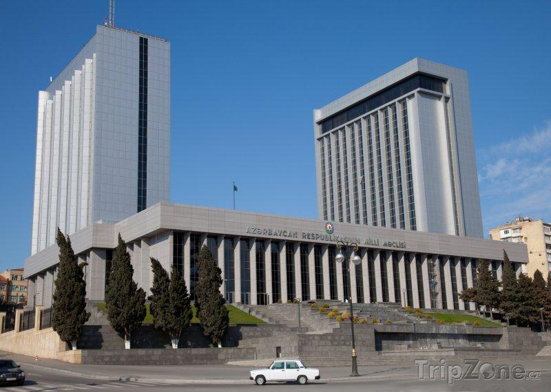 Fotka, Foto Budova Národního shromáždění v Baku (Ázerbájdžán)