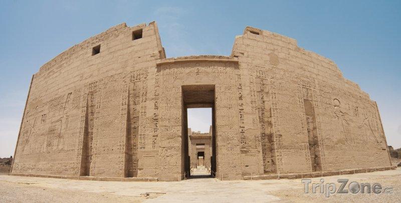 Fotka, Foto Chrám Medínit Habu (Luxor, Egypt)