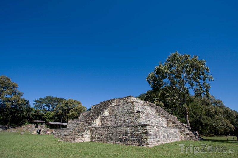 Fotka, Foto Chrám v mayském městě Copán (Honduras)