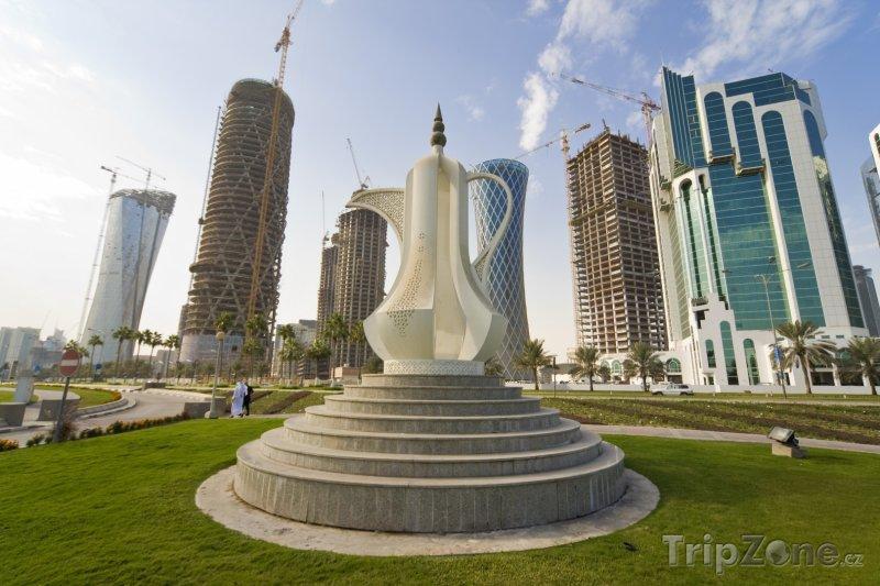 Fotka, Foto Dallah, kávová konvice v Dauhá (Katar)