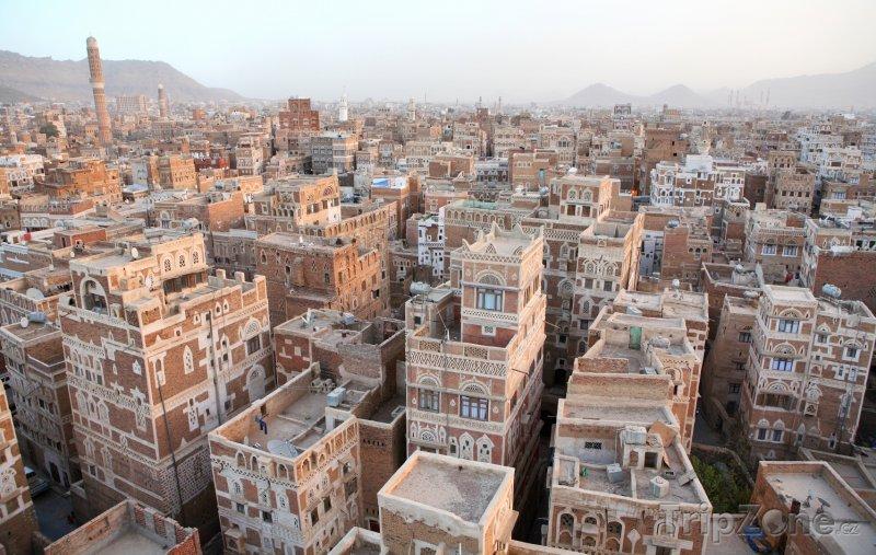 Fotka, Foto Domy ve městě Sanaa (Jemen)
