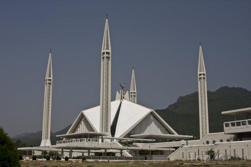 Fotka, Foto Faisalova mešita v Islámábádu (Pákistán)
