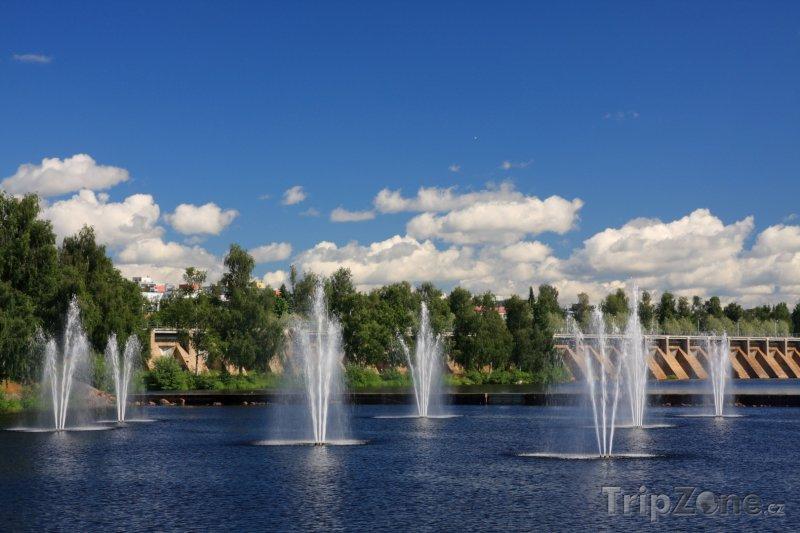 Fotka, Foto Fontány v Oulu (Finsko)