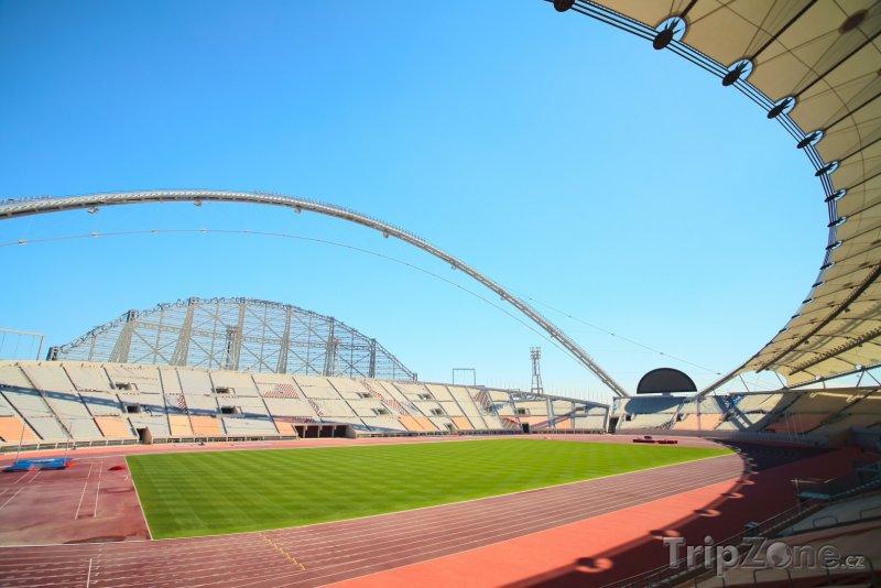 Fotka, Foto Hrací plocha na stadionu Khalifa (Katar)