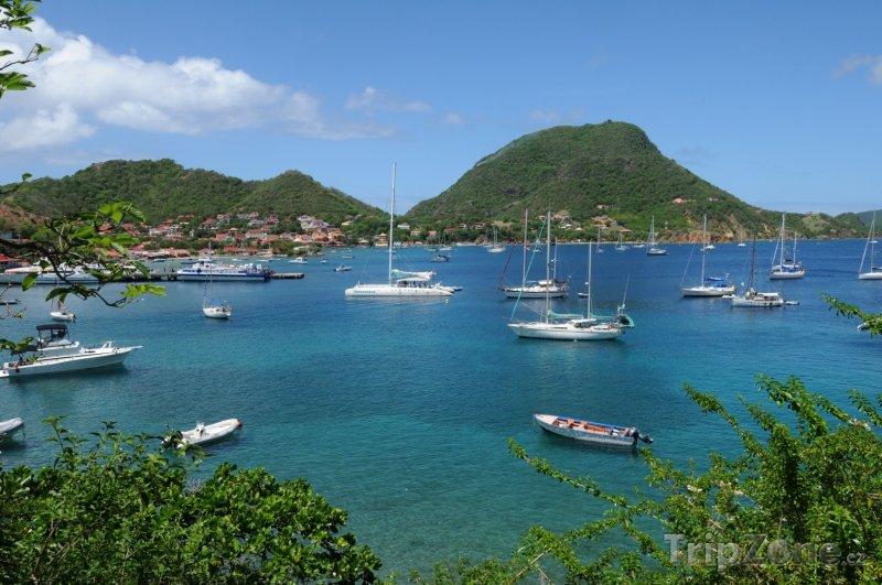 Fotka, Foto Jachty u ostrova Les Saintes (Guadeloupe)