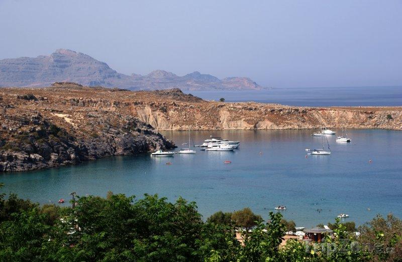 Fotka, Foto Jachty v zálivu (Líndos, Řecko)