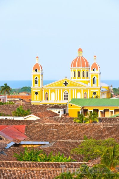 Fotka, Foto Katedrála ve městě Granada (Nikaragua)