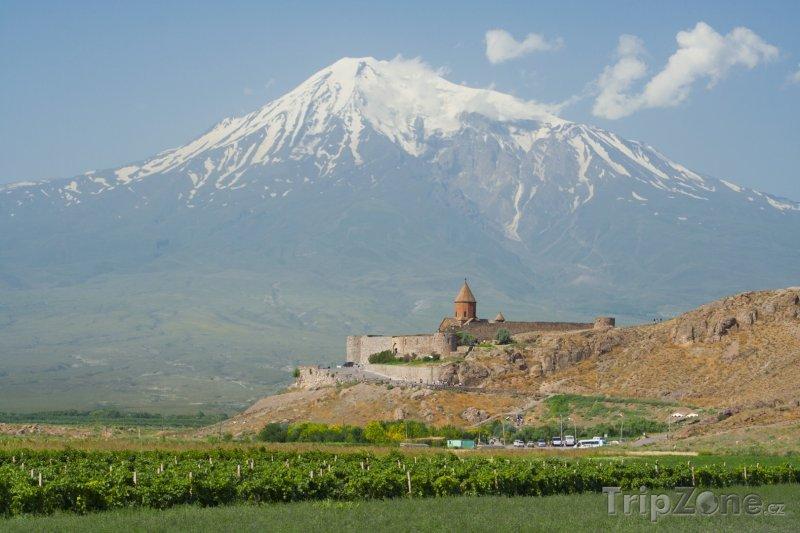 Fotka, Foto Klášter Khor Virap a hora Ararat (Arménie)