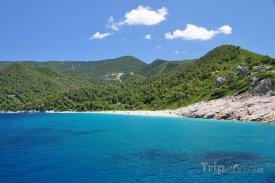 Krajina u pobřeží ostrova Skiathos