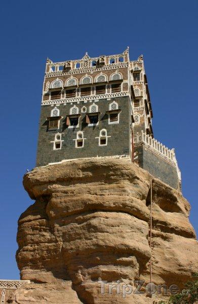 Fotka, Foto Letní palác Imama Yahya ve Wadi Dhar (Jemen)