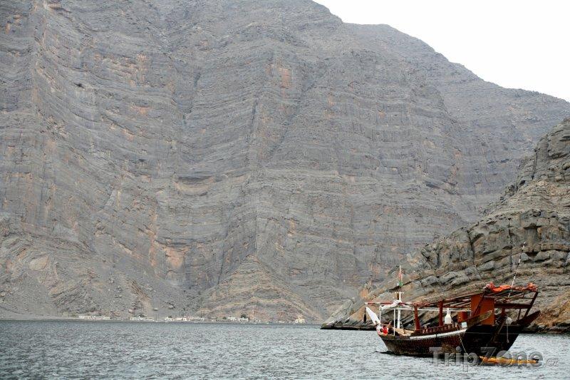 Fotka, Foto Loď na poloostrově Musandam (Omán)