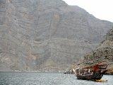 Loď na poloostrově Musandam