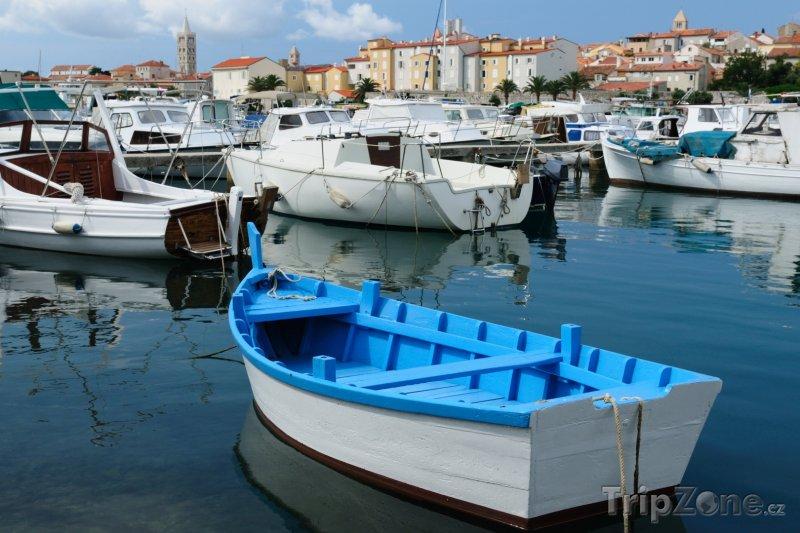 Fotka, Foto Lodě v přístavu (Rab, Chorvatsko)