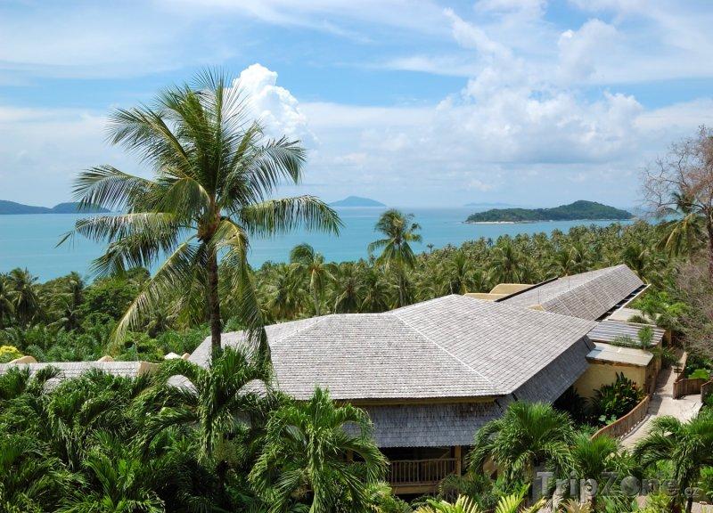 Fotka, Foto Luxusní hotel v obležení palem (Phuket, Thajsko)