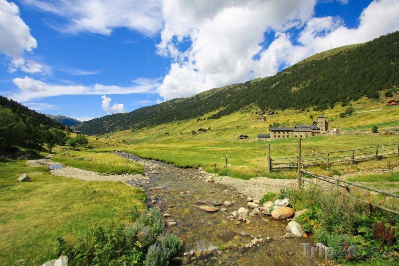 Fotka, Foto Malá řeka ve Vall d' Incles (Andorra)