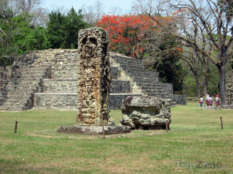 Fotka, Foto Mayské ruiny ve městě Copán (Honduras)