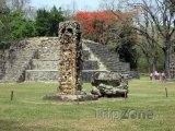 Mayské ruiny ve městě Copán