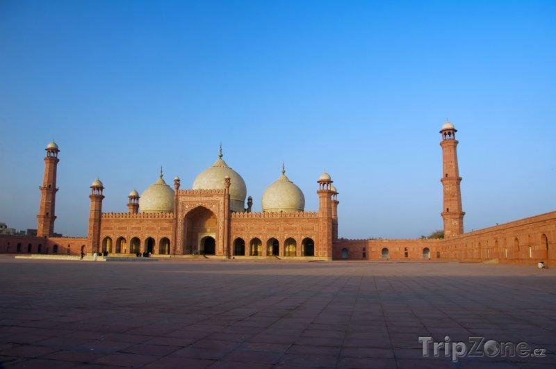 Fotka, Foto Mešita Badshahi ve městě Láhaur (Pákistán)