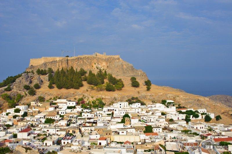 Fotka, Foto Městečko Lindos (Řecko)