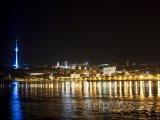 Město Baku v noci
