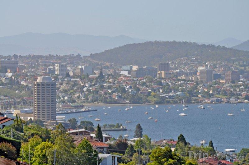 Fotka, Foto Město Hobart panorama (Austrálie)
