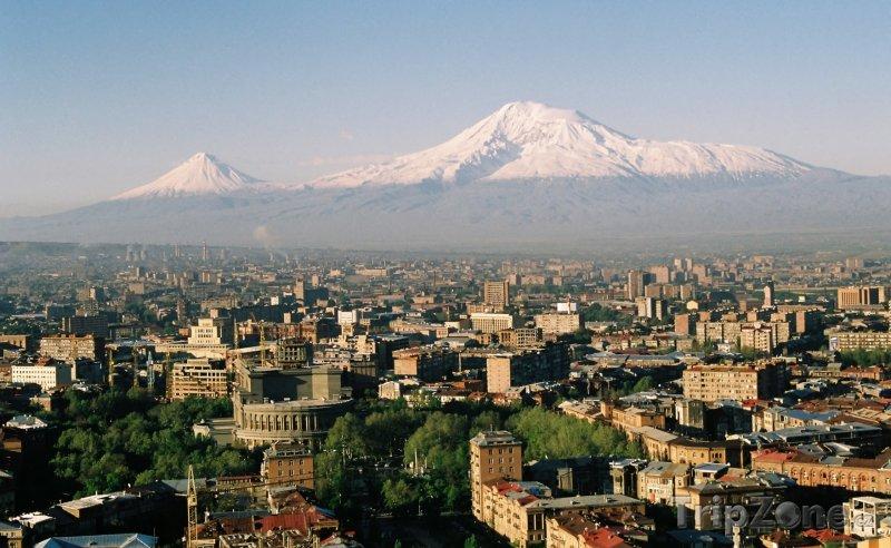 Fotka, Foto Město Jerevan a pohoří Ararat (Arménie)
