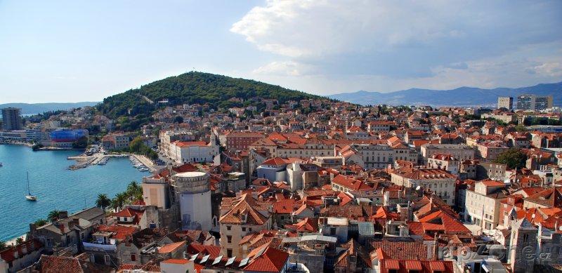 Fotka, Foto Město Split a kopec Marjan (Split, Chorvatsko)