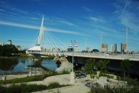 Most Esplanade Riel ve Winnipegu