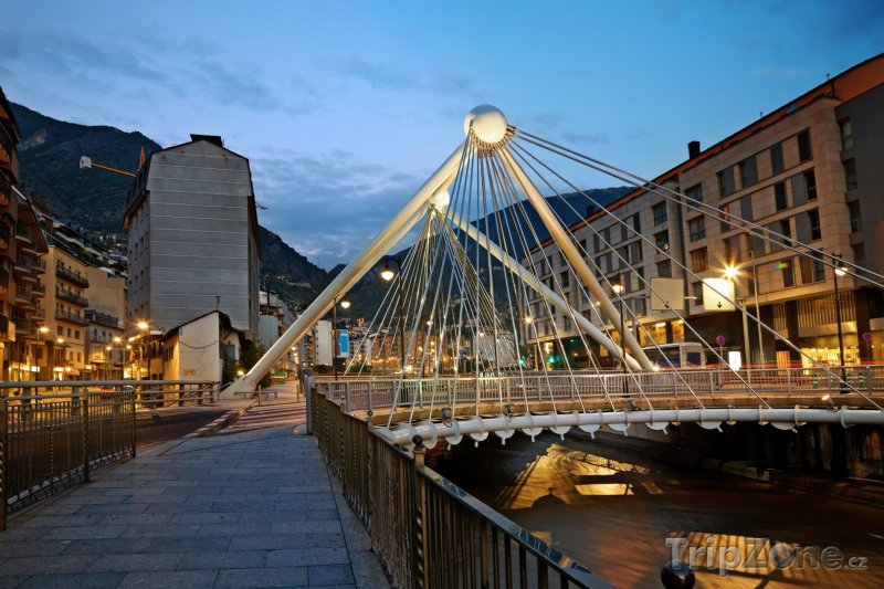 Fotka, Foto Most Pont de Paris v Andorra la Vella (Andorra)