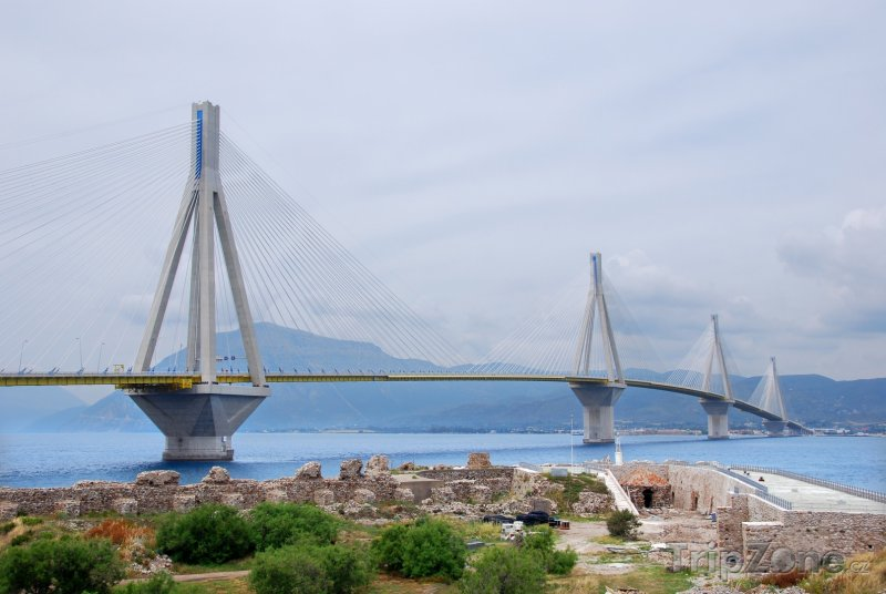Fotka, Foto Most Rio–Antirrio v Patrasu (Řecko)
