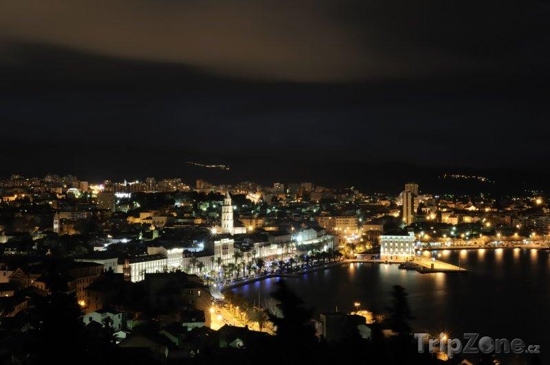 Fotka, Foto Noční město (Split, Chorvatsko)