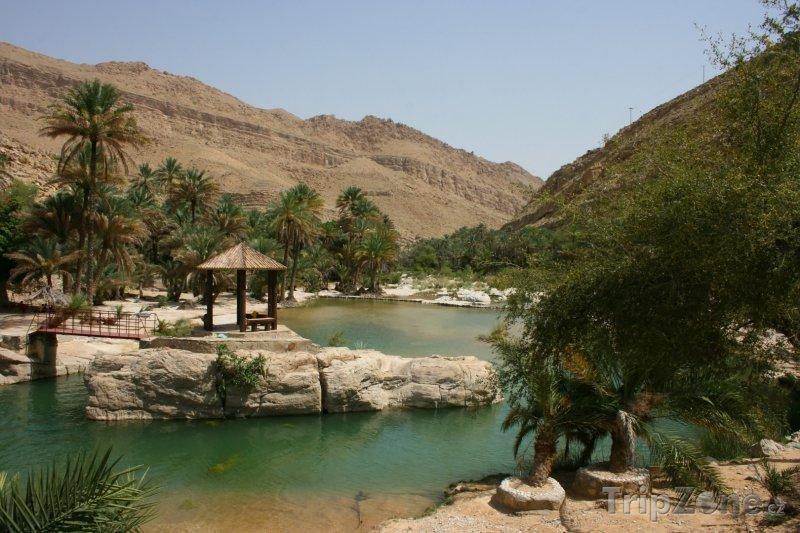 Fotka, Foto Oáza v údolí Wadi Bani Khalid (Omán)