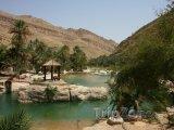 Oáza v údolí Wadi Bani Khalid