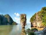 Ostrov Ko Tapu v zálivu Phang Nga