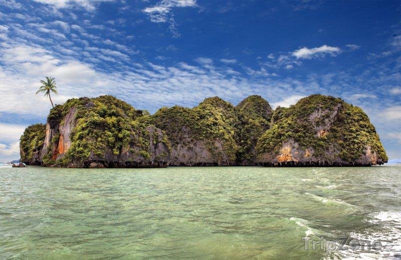 Fotka, Foto Ostrůvek s palmou (Phuket, Thajsko)