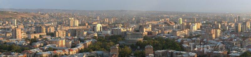 Fotka, Foto Panoráma města Jerevan (Arménie)