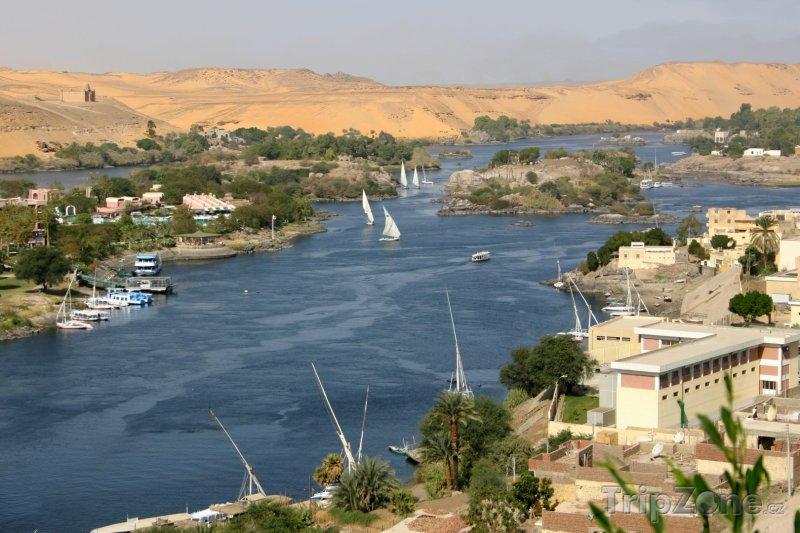 Fotka, Foto Panorama Nilu (Asuán, Egypt)