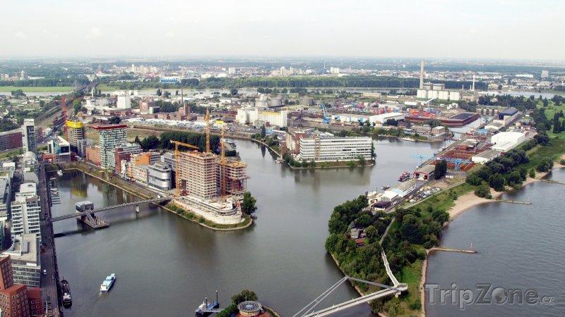 Fotka, Foto Panorama přístavu (Düsseldorf, Německo)