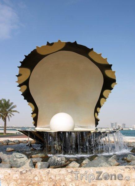 Fotka, Foto Perlová fontána v Dauhá (Katar)
