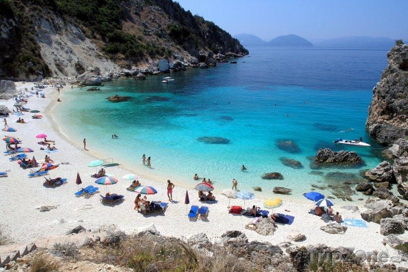 Fotka, Foto Pláž Agiofili na ostrově Lefkáda (Řecko)