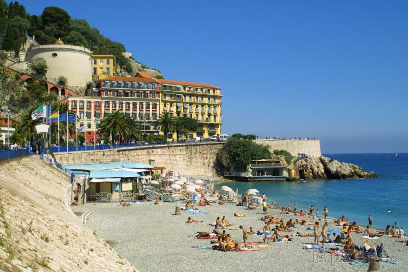 Fotka, Foto Pláž pod Anglickou promenádou (Nice, Francie)