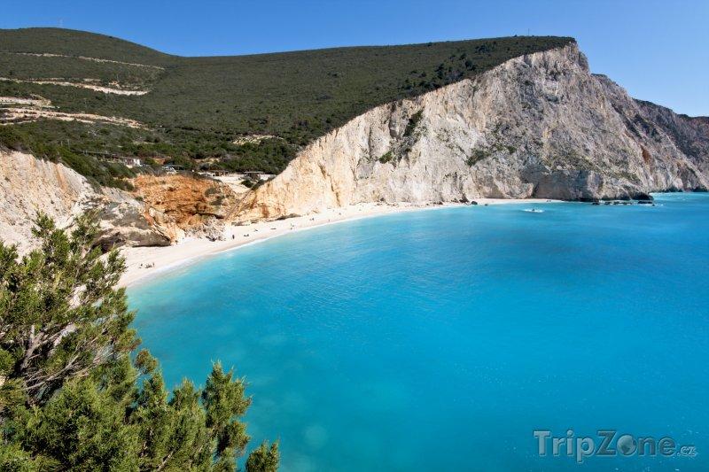 Fotka, Foto Pláž Porto Katsiki na ostrově Lefkáda (Řecko)