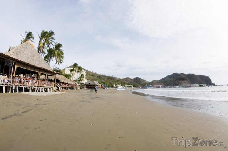 Fotka, Foto Pláž ve městě San Juan del Sur (Nikaragua)