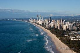 Pobřeží letoviska Gold Coast