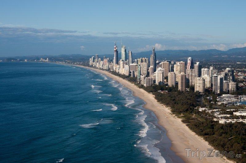Fotka, Foto Pobřeží letoviska Gold Coast (Austrálie)