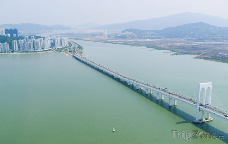 Fotka, Foto Pohled na Macau-Taipa Bridge (Macao)