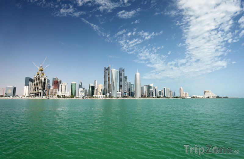 Fotka, Foto Pohled na město Dauhá (Katar)