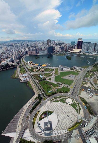 Fotka, Foto Pohled na město z mrakodrapu (Macao)