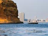 Pohled na pobřeží města Karáčí